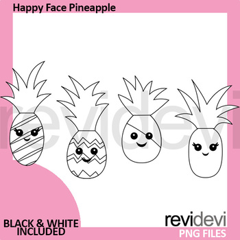 Happy Face Pineapple Clip art