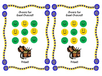 Happy Face Reward Chart