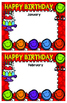 Happy Face Welcome Banner , Birthday Certificate, Bulletin Board Borders