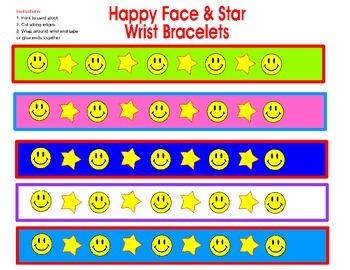 Classroom Management- Happy Face Wrist Bracelet