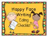 Happy Face Writing {Editing Checklist}