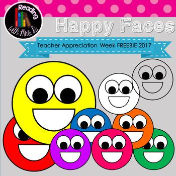 Happy Faces Clip Art FREEBIE for Teacher Appreciation Week 2017