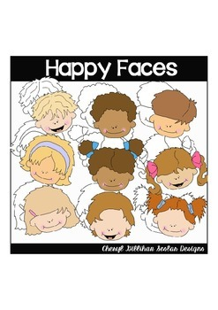 Happy Faces Clipart Collection