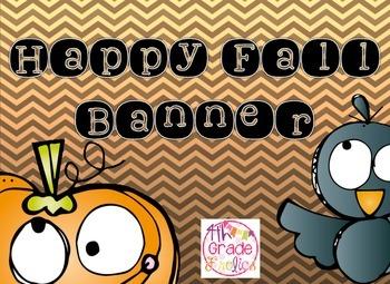 Happy Fall - Banner