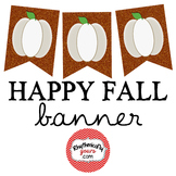Happy Fall Banner