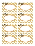 Happy Fall Chevron Labels