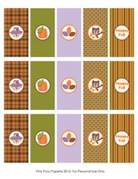 Happy Fall Classroom Party Mini Candy Bar Wrappers