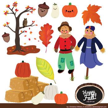 Happy Fall Clip Art Set