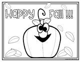 Happy Fall!!! Color Sheet