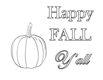Happy Fall Coloring
