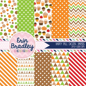 Happy Fall Digital Papers
