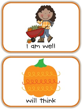Happy Fall Dolch Phrases {Lists 5 and 6}