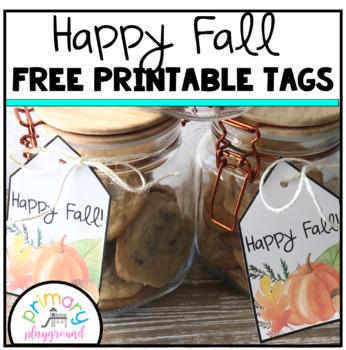 Happy Fall Free Printable Tags