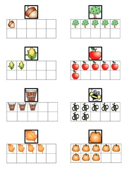 Happy Fall Hunt Numbers 0 to 10 and Ten Frames Go Math Ch. 1, 3 Kindergarten