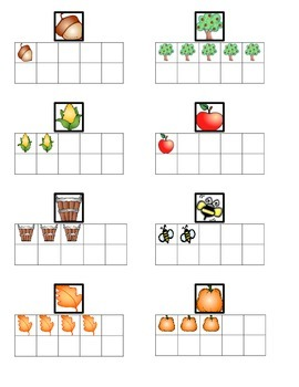 Happy Fall Hunt Numbers 0 to 5 and Ten Frames Go Math Ch. 1 Kindergarten