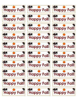 Happy Fall Labels