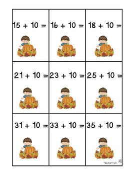 Fall Math Games 1st Grade, Kindergarten, 2nd Grade