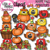 Happy Fall Monsters Clipart