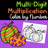 Happy Fall! Multi-Digit Multiplication Color by Number 5.NBT.5.