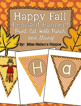 Happy Fall Pennant Banner