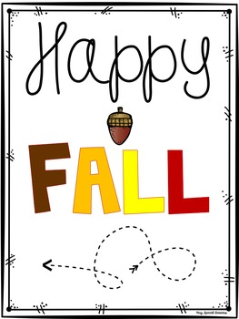 Happy Fall Poster- FREEBIE!