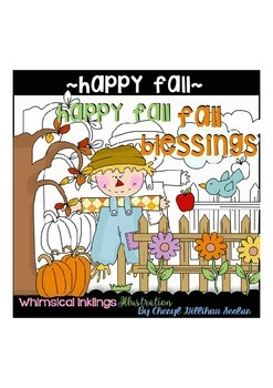 Happy Fall~ Scarecrow~ Autumn Clipart Collection