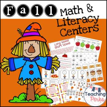 Happy Fall To All Math and Literacy Centers