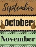 Happy Fall Y'all: Calendar Pieces & Month Tags