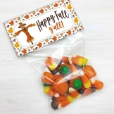 Happy Fall Y'all Favor and Treat Bag Toppers, Halloween &