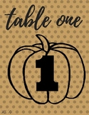 Happy Fall Y'all: Table Numbers