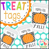 Happy Fall Y'all Gift Tags - Pumpkin