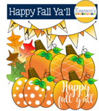 Happy Fall Ya'll Pumpkin Clip Art