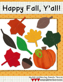 Happy Fall, Ya'll! {Digital Felties and Line Art}