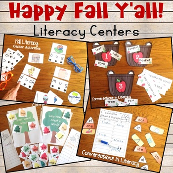 Fall Literacy Center Activities Happy Fall Y'all