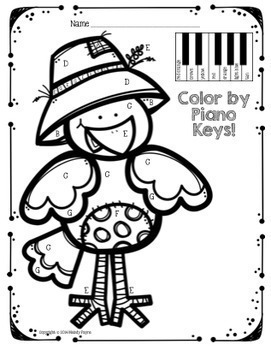 Music Coloring Sheets for Fall & Autumn {Color by Music Symbol, Notes, & More!}
