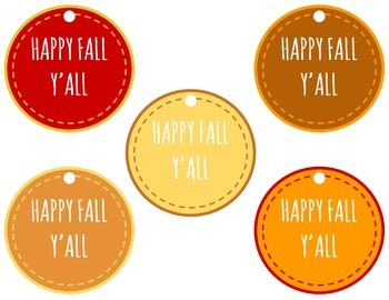 picture about Happy Fall Yall Printable titled Content Tumble Yall Printables through The Samses Prepare TpT