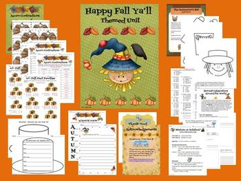 Happy Fall Ya'll Themed Unit
