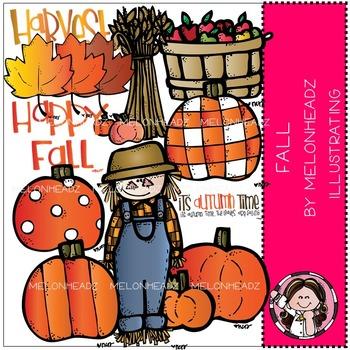 Happy Fall clip art- Melonheadz clipart