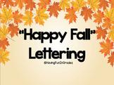Happy Fall lettering (Editable)
