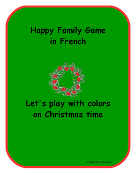 Happy Family Game French Colors Christmas
