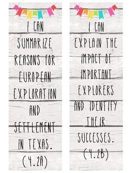 Happy Farmhouse 4th Grade SS TEKS Posters (TX)