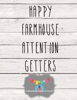 Happy Farmhouse Attention Getters