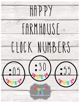 Happy Farmhouse Clock Numbers