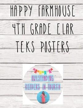 Happy Farmhouse 4th Grade ELAR TEKS Posters (TX)