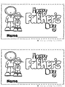 Happy Father's Day  (A Sight Word Emergent Reader and Teacher Lap Book)