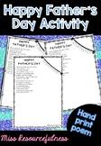 Father's Day Present - Card Handprint Poem Craft