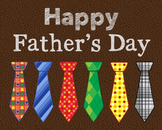 Happy Father's Day Poster, Class Decor, Holiday Sign, Bull