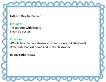 Happy Father's Day Tie Banner / Pendant Banner