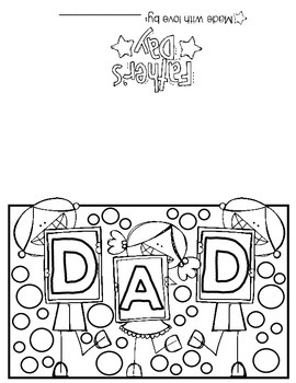 Happy Father's Day! A print n' go card for older kids!