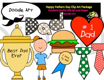 Happy Fathers Day Clipart Pack